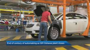 A century of automaking ends as GM's Oshawa plant closes