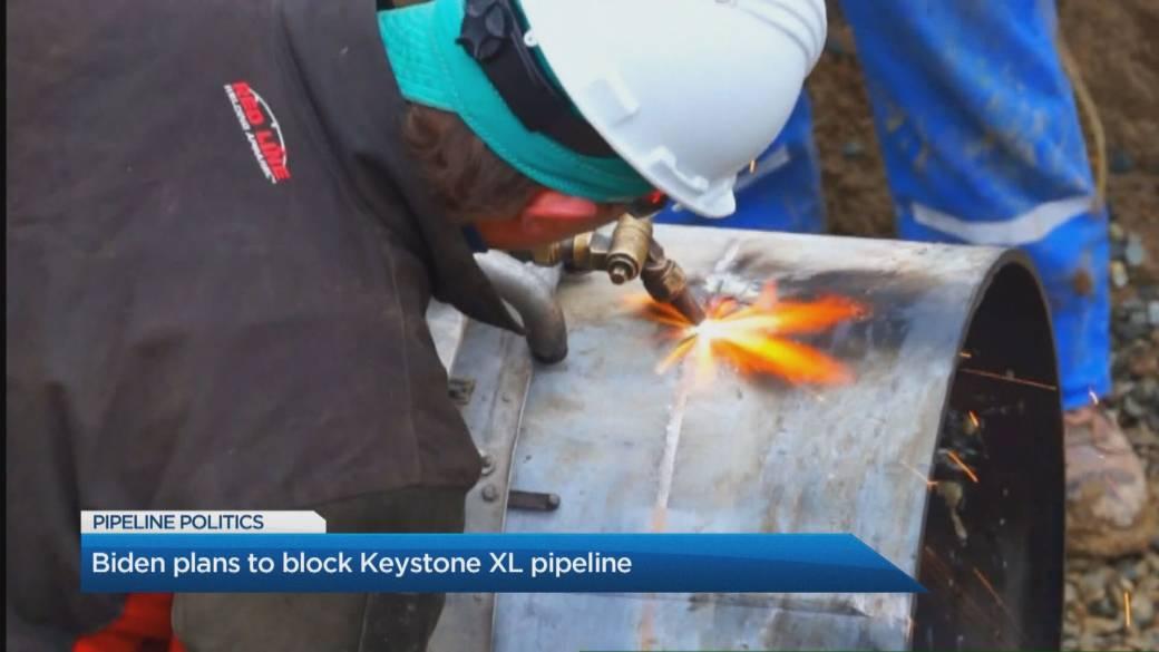 Click to play video 'Biden plans to block Keystone XL pipeline'