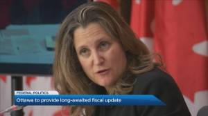 Finance minister Chrystia Freeland to provide economic update (05:18)
