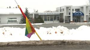 Rainbow flags placed outside Kingston, Ont. church (01:50)