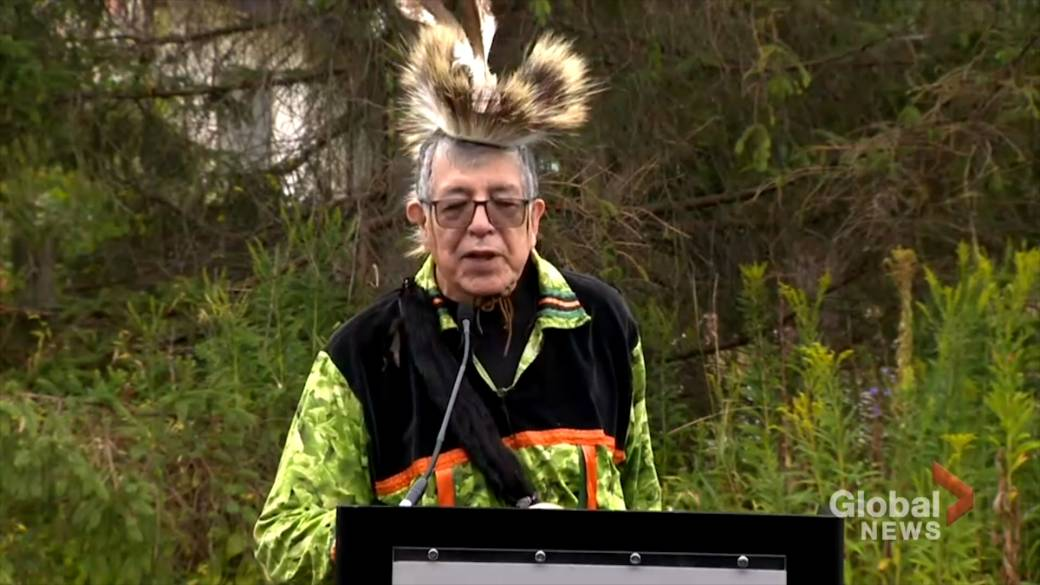 First Nations elder criticizes Trudeau government during funding announcement