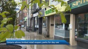Retailers with street entrances open for business in Ontario