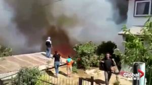 Fire in Chilean city of Valparaíso destroys about 50 homes, say firefighters
