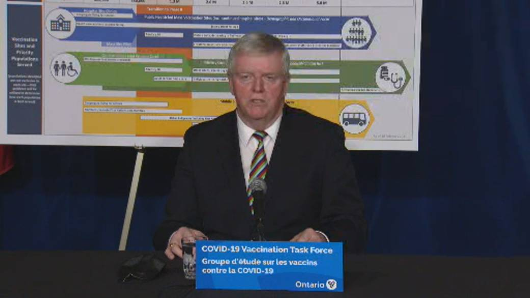 Click to play video 'Coronavirus: Ontario aiming to vaccine people in age group 80 or older in mid-March'