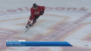 Craig Conroy discusses the Calgary Flames Stanley Cup qualifier