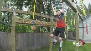 Port Coquitlam boy builds his own ninja course