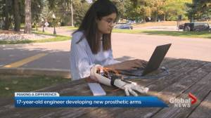 Mississauga teen developing cheaper alternative to prosthetic arms (03:06)