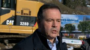 Kenney speaks to media for first time after Bill 22 passed through the legislature