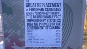 Play video: Racist posters spotted in Whitby