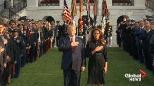 President Trump and First Lady take part in moment of silence honouring 9/11 terror victims