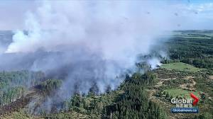 Alberta wildfire in Yellowhead County grows to 180 hectares overnight (02:39)