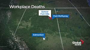 Calgary woman, Newfoundland man killed in collision at Suncor Fort Hills (01:08)