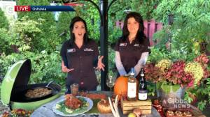Grilling experts Maddie & Kiki show off their favourite sips and sides for Thanksgiving (04:16)