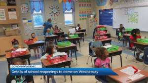 Details of Ontario school reopenings to come on Wednesday (03:48)