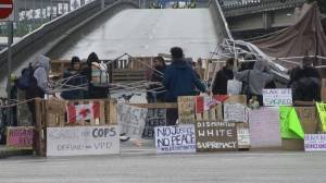 Vancouver police clear viaducts after 2-day  peaceful protest come to an end