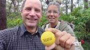 Play video: From Alberta to Australia: golf ball turns up on the other side of the world