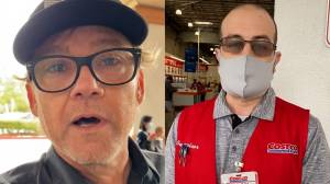 Ricky Schroder berates Costco staff in anti-mask rant (01:38)