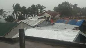 Typhoon Ursula makes landfall in Philippines