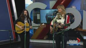 Canadian singer-songwriting duo Madison Violet performs at Global Calgary