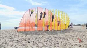 Winter Stations 2020 installed along Woodbine Beach