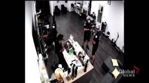 Hair salon owner alleges racial profiling by Montreal police (02:10)