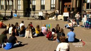 Climate activists hold socially distant rally in Halifax (01:54)