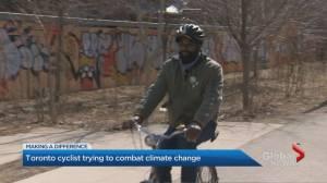 Toronto man dedicates his time to keeping cyclists safe (03:31)