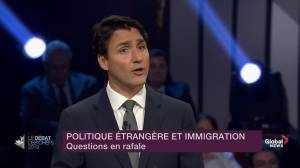 Leaders' Debate: Justin Trudeau says there's 'no free pass' at the Canadian border