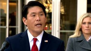 Robert Hur U.S. Attorney for the District of Maryland speaks after Patrik Mathews was denied bail
