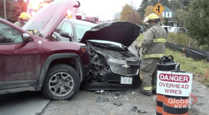 1 taken to hospital following 3 vehicle collision near Baltimore, Ont. (00:28)