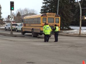 Boy, 12, taken to hospital after being struck by school bus