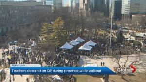 Striking teachers converge on Queen's Park to send a message of unity