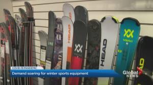 Coronavirus: Ski, snowboard demand surges amid COVID-19 pandemic (01:55)