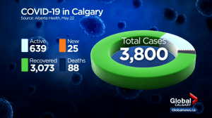25 new COVID-19 cases, 1 new death confirmed in Calgary on Friday