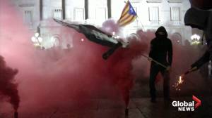 Catalan separatists burn effigies as protests continue ahead of vote