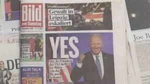 America Votes 2020: World reacts to Joe Biden being elected U.S. president (02:19)