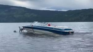 Shuswap boater caught riding the waves while still on trailer