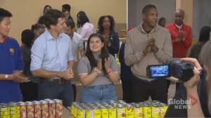 Federal Election 2019: Trudeau joined by Masai Ujiri at charity campaign event