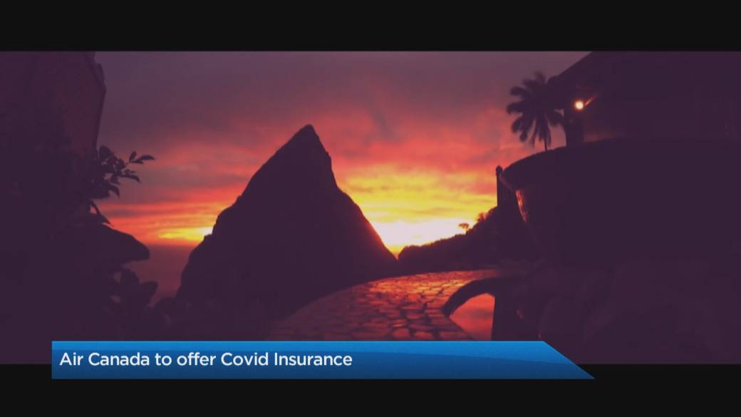 Click to play video 'Air Canada to include free COVID-19, quarantine insurance on some vacation packages'