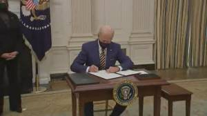 Biden signs executive orders for COVID-19 relief package (02:10)