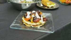 BBQ Tips:  Grilled vegetarian tostadas