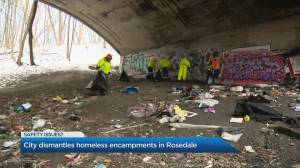 The City of Toronto clears out homeless encampments in Rosedale Valley