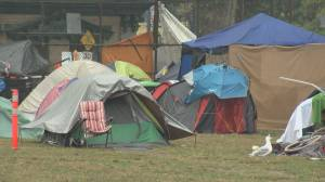 Campers prepare to leave Oppenheimer park before final deadline