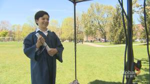 Montreal students celebrate the end of their elementary school days