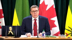 Saskatchewan Premier Moe reflects on one-year with COVID-19, asks residents to 'take the shot' (02:14)