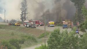 Fire sparks in Spallumcheen industrial area (01:42)