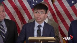 'Hong Kongers were never alone': Activist Joshua Wong, standing alongside U.S. Congressional leaders