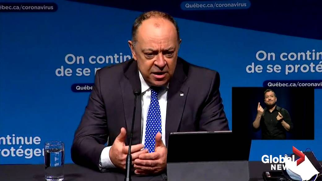 """Click to play video 'Coronavirus: Quebec's health minister says they'll tweak vaccination rollout """"glitches""""'"""