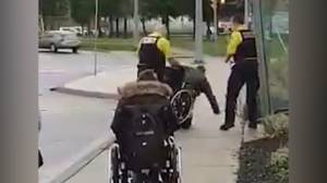 Police investigate video showing security dumping man out of wheelchair in St. Catharines (00:41)