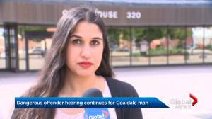 Dangerous offender hearing continues for 35-year-old Coaldale man (01:35)